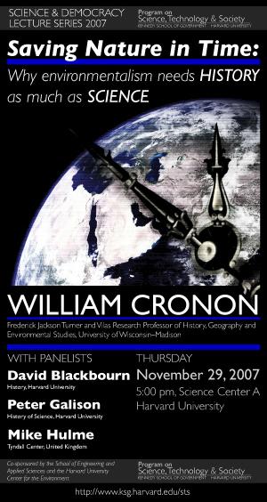William Cronon poster