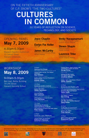 Cultures in Common: 50 Years of Reflection on Science, Technology, and Society event poster
