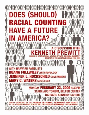 Kenneth Prewitt event poster