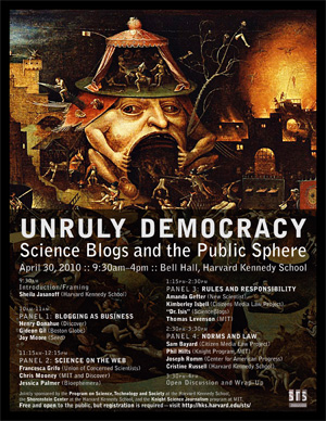 Unruly Democracy event poster