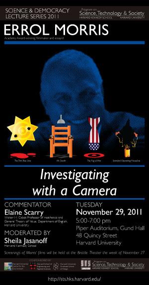 Errol Morris event poster