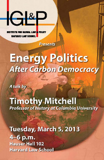 Energy Politics: After Carbon Democracy event poster