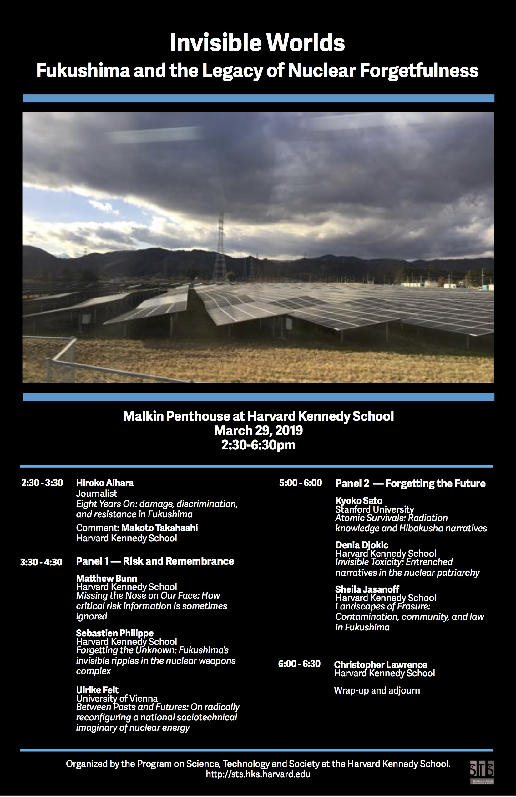Invisible Worlds: Fukushima and the Legacy of Nuclear Forgetfulness event poster