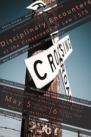 Disciplinary Encounters at the Crossroads of Law & STS event poster
