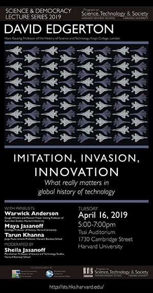 David Edgerton event poster