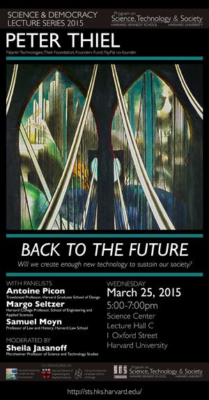 Peter Thiel event poster